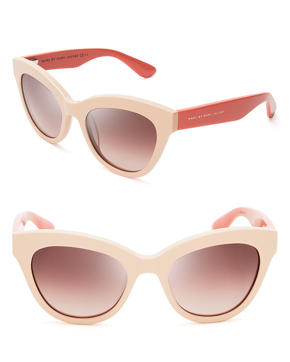 Marc By Marc Jacobs Cat Eye Sunglasses  marc by marc jacobs twotone cat eye sunglasses in pink lyst