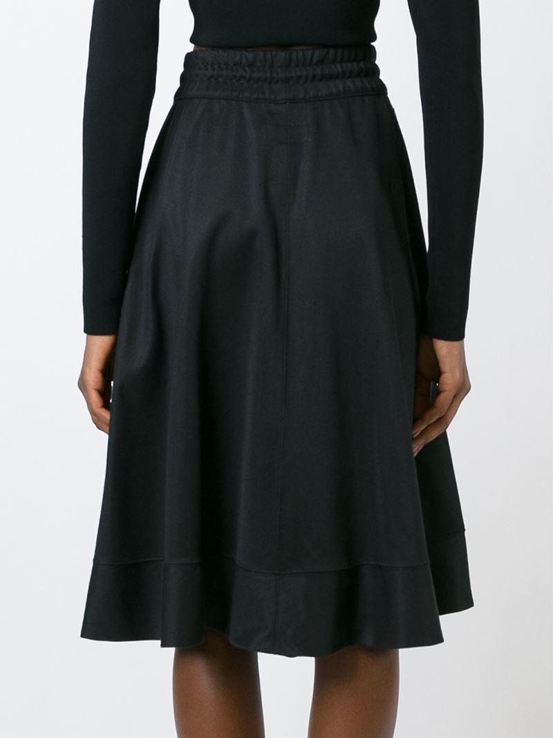 Adidas originals A-line Jersey Skirt in Black | Lyst