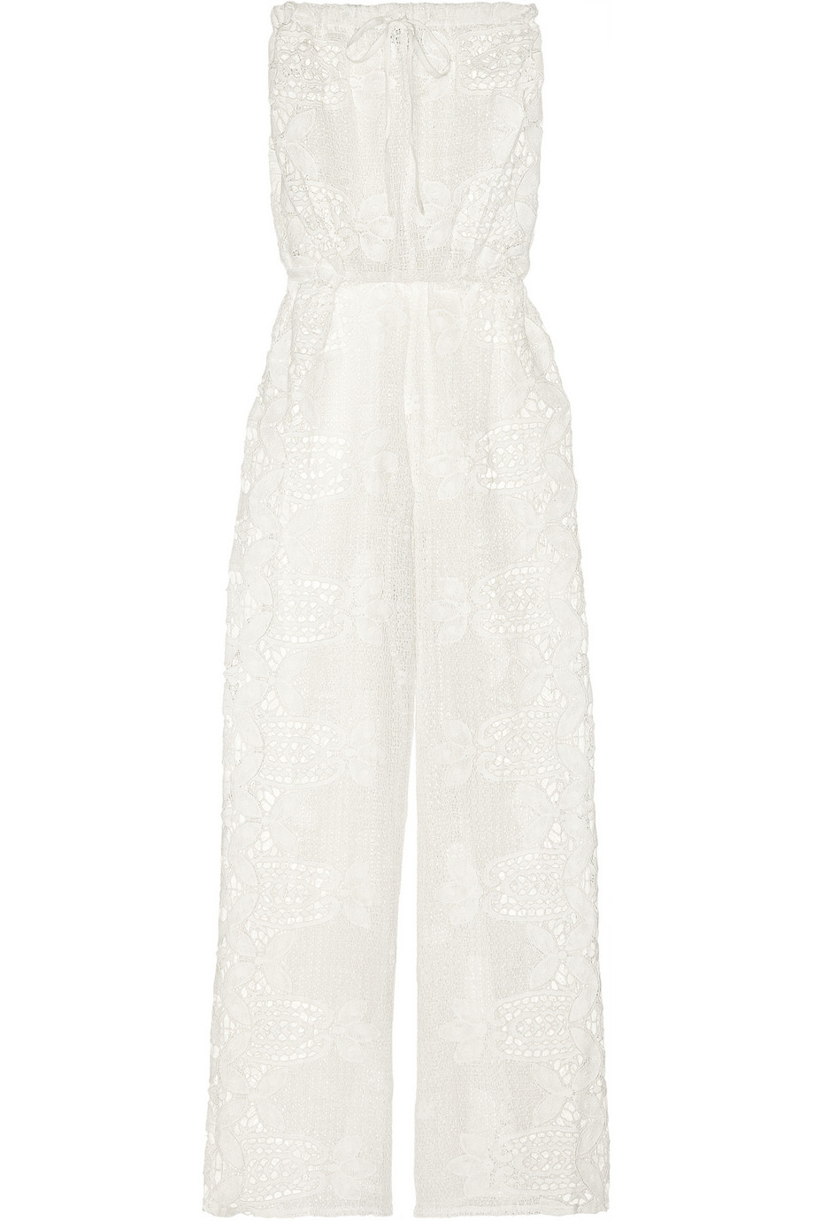 6381a4c22c31 Lyst - Miguelina Piper Crocheted Cotton-Lace Jumpsuit in White