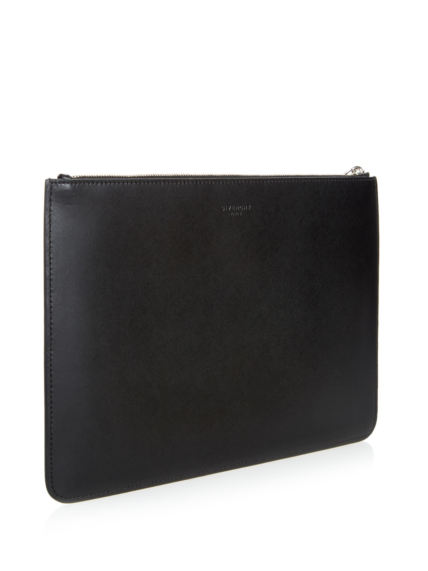 d5db97ca55 Lyst - Givenchy Star Smooth-leather Clutch in Black