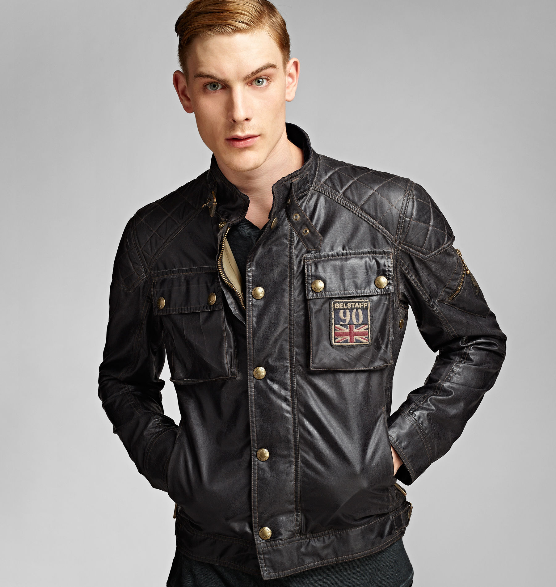 belstaff champion blouson in black for men lyst. Black Bedroom Furniture Sets. Home Design Ideas