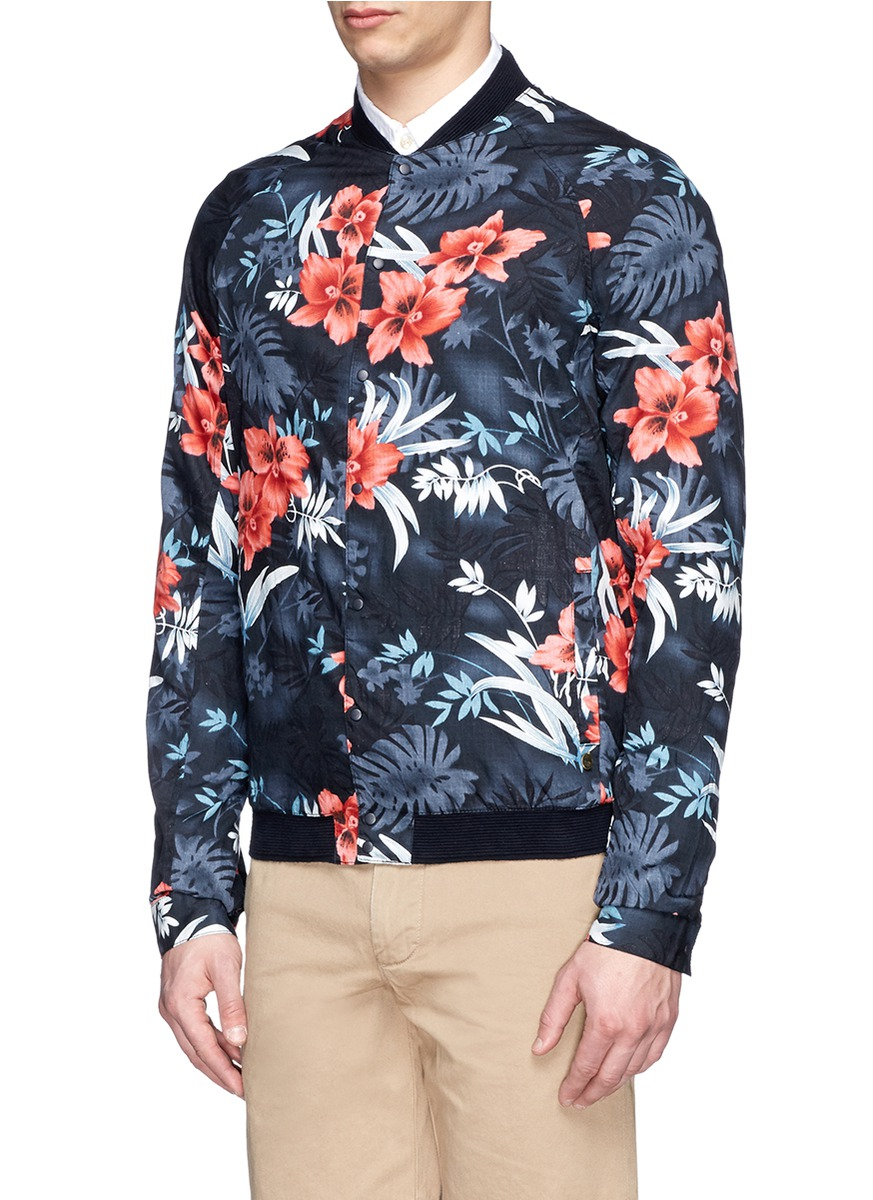 how to wear a floral print jacket