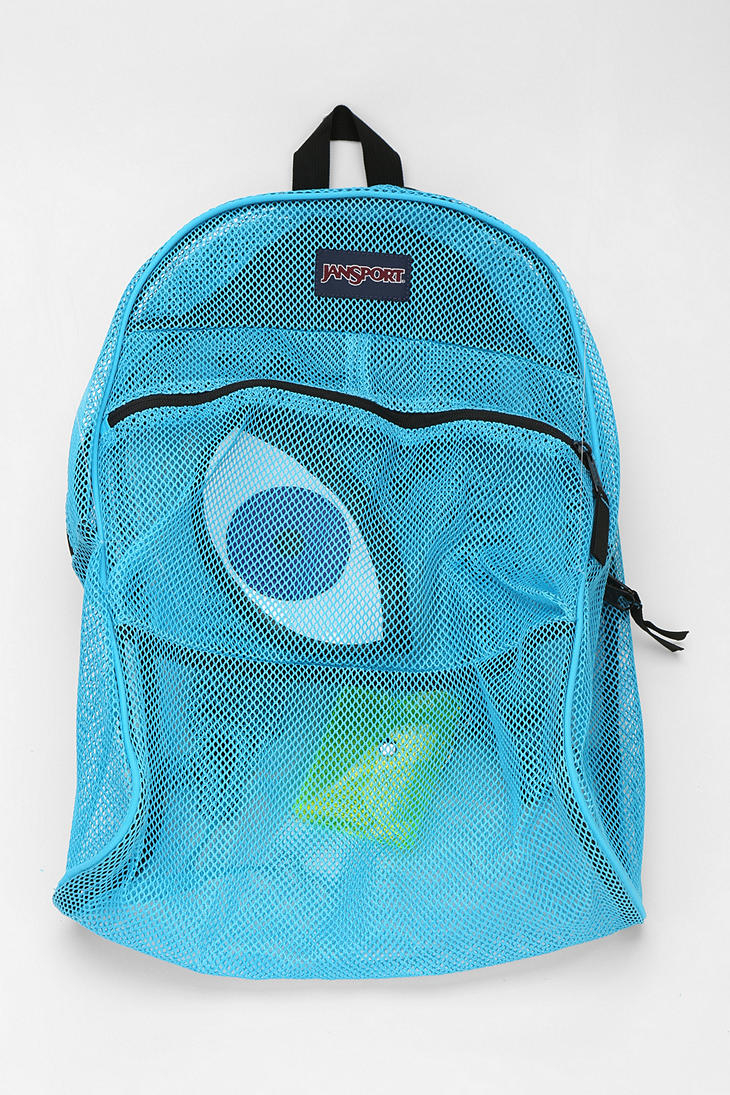 Jansport Mesh Backpack in Blue | Lyst