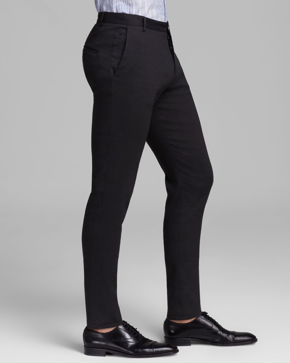 Elie tahari Bennet Stretch Linen Pants in Black for Men | Lyst