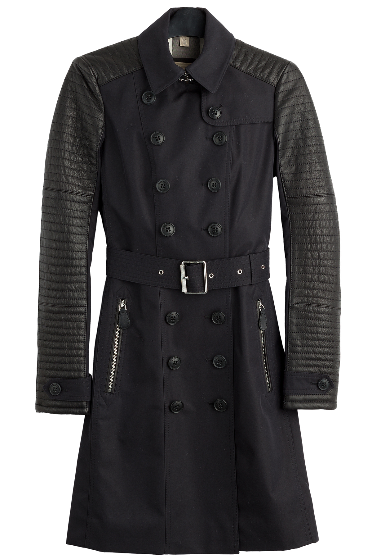 Wool jackets with leather sleeves