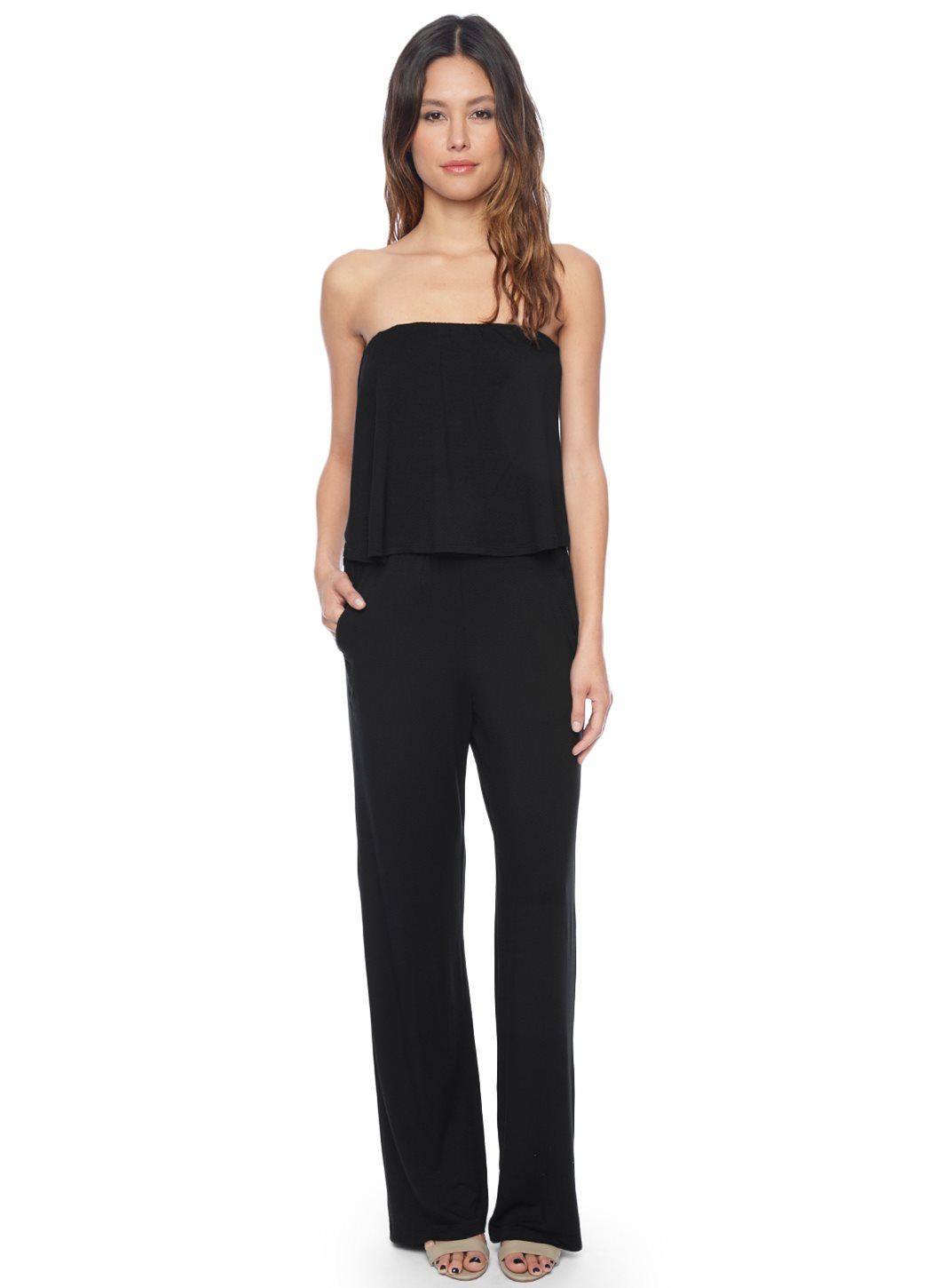 Ella Moss Bella Strapless Jumpsuit in Black | Lyst