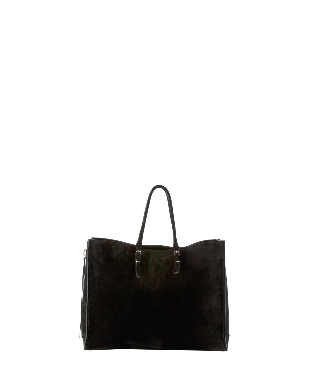 Balenciaga Papier A4 Side Zip Suede Tote Bag in Black | Lyst