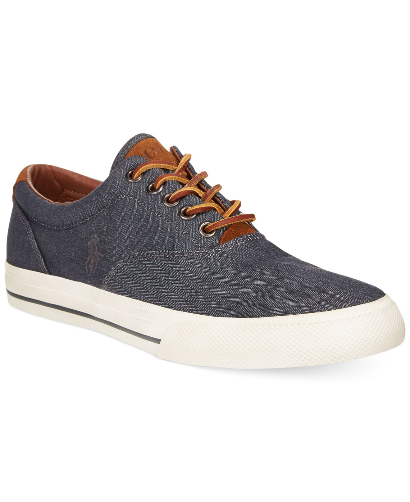 polo ralph lauren vaughn chambray herringbone sneakers in blue for men. Black Bedroom Furniture Sets. Home Design Ideas