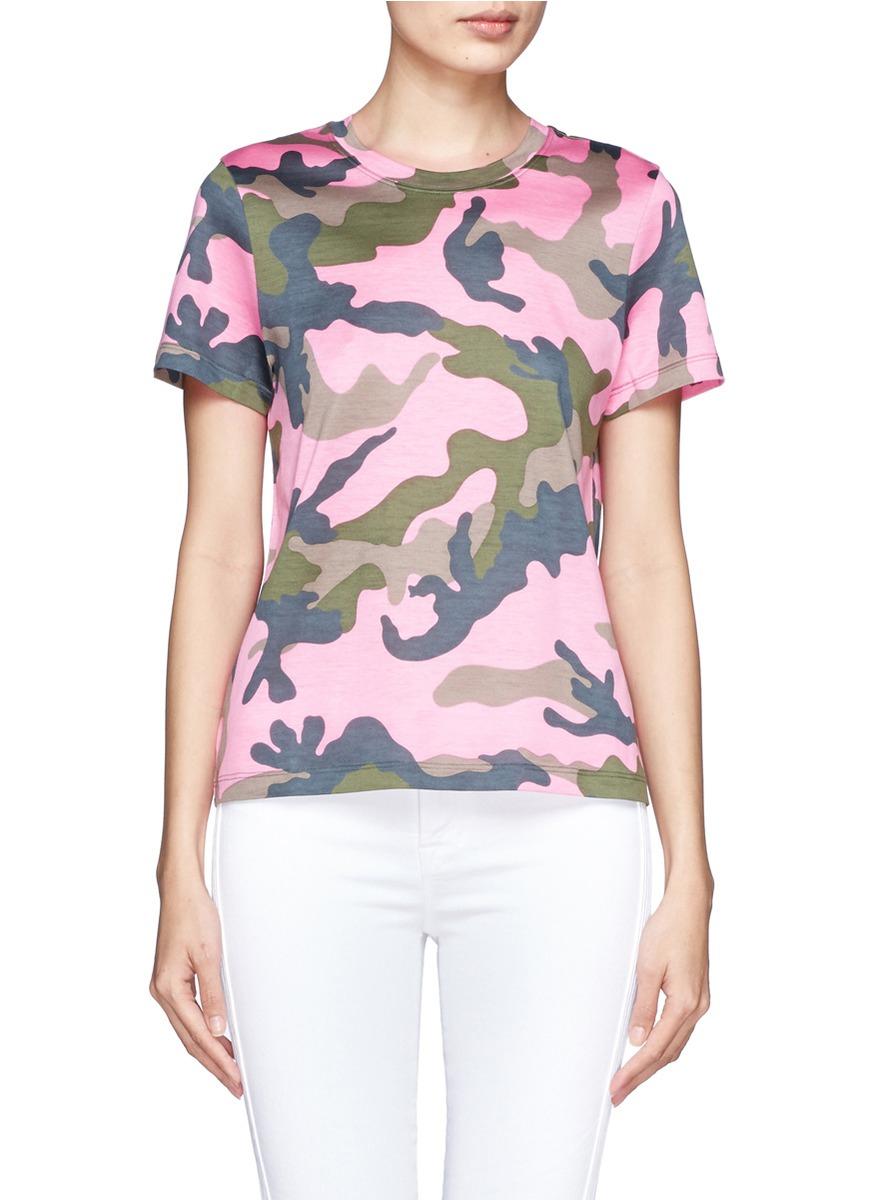Valentino Camouflage Short Sleeve T Shirt Lyst