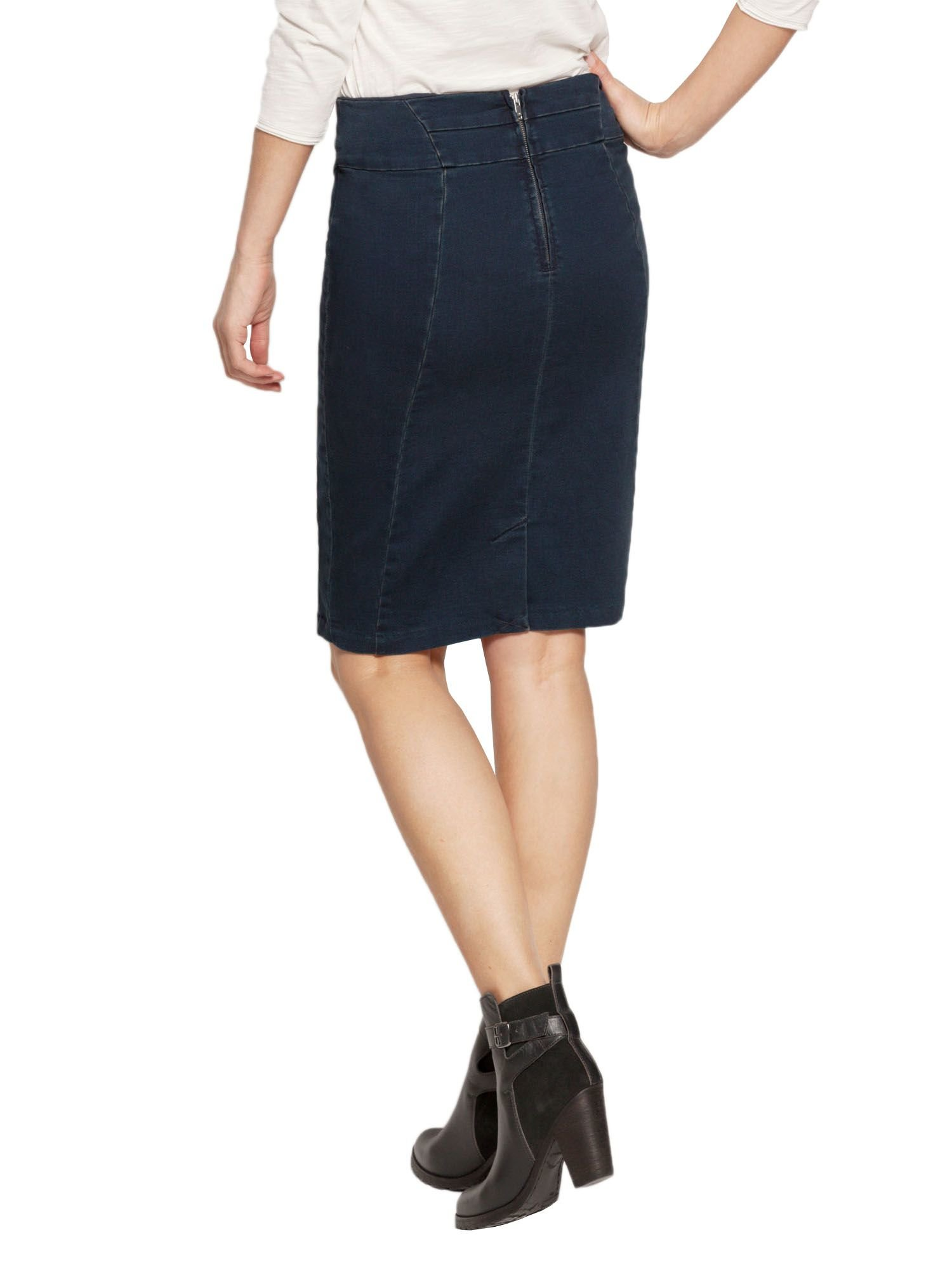 sandwich stretch denim skirt in blue lyst