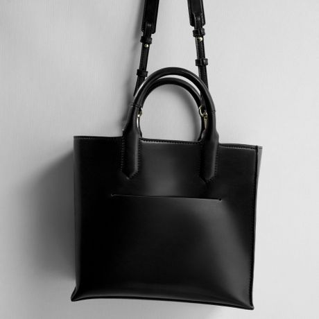Zara Shopper Bag Black Black Zara Mini Shopper