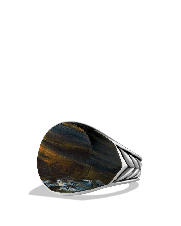 Lyst David Yurman Chevron Round Signet Ring With