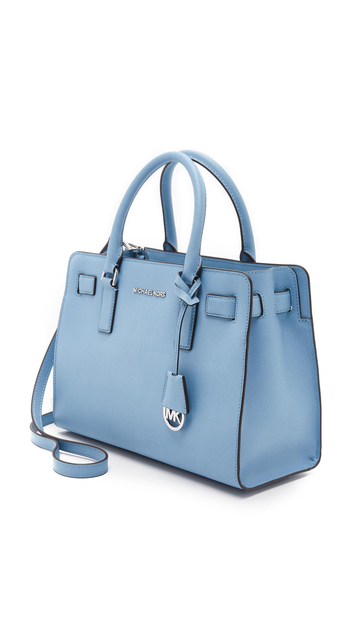 becf801622d0 ... cheap michael michael kors dillon satchel in blue lyst d80ce 25445