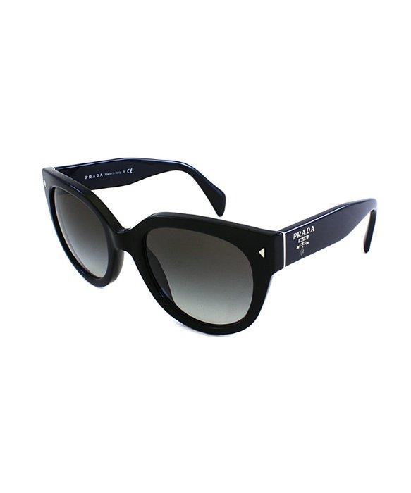 dabdec7df92 ... ireland sunglasses prada pr lyst prada pr 17os 1ab0a7 cat eye plastic  sunglasses in black 69af0