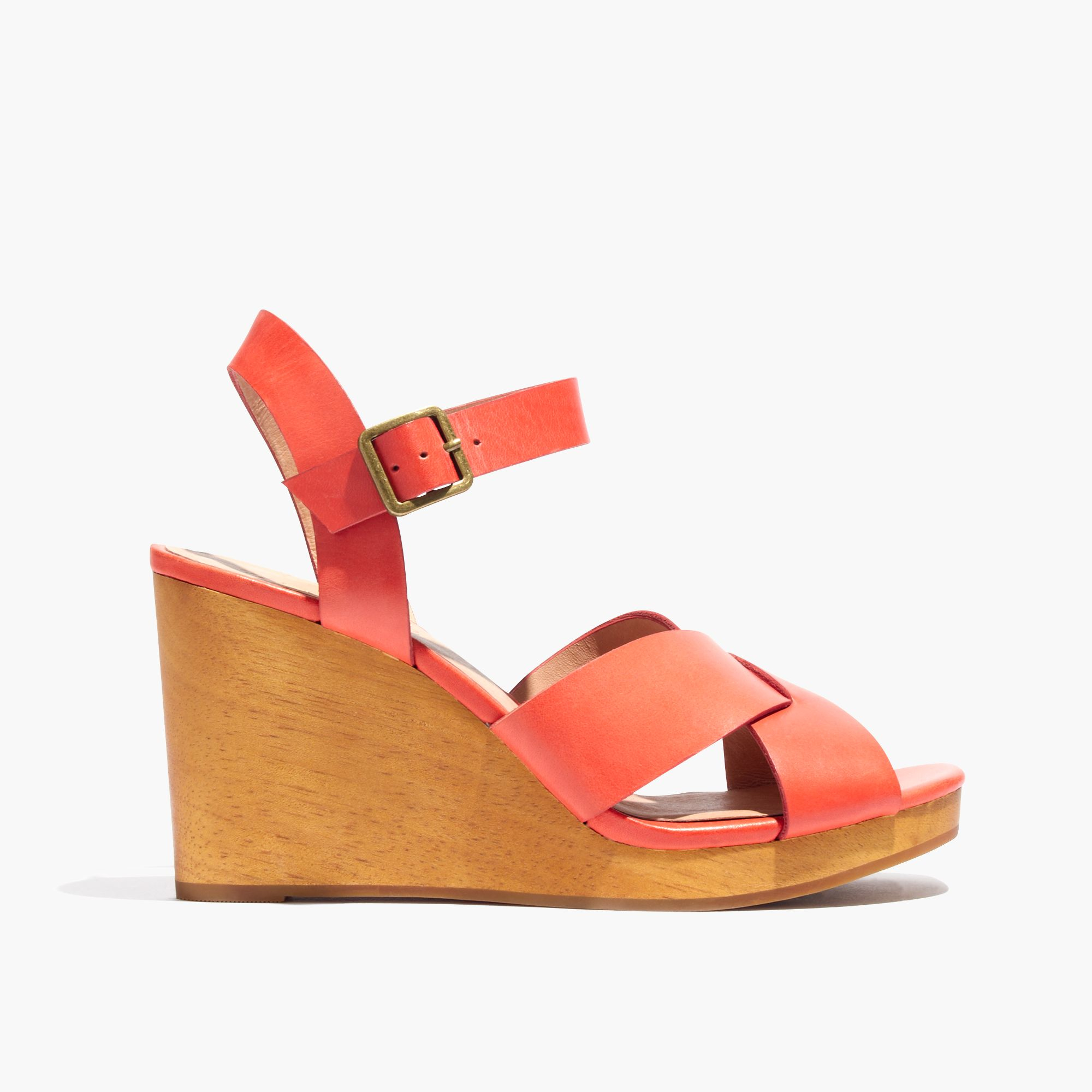 6876c284efe9bd Lyst - Madewell The Drea Wedge Sandal in Red