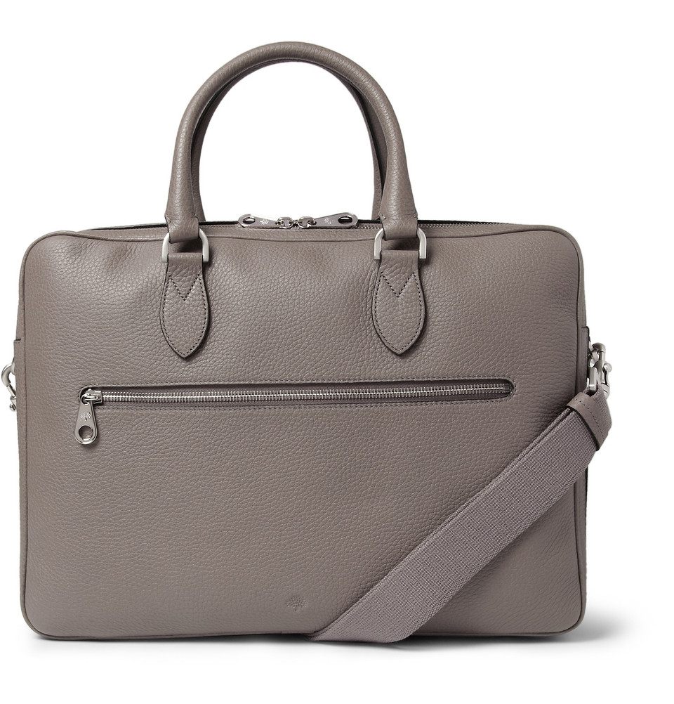 Lyst Mulberry Heathcliffe Leather Briefcase In Gray For Men