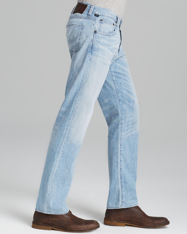 Light Blue Mens Skinny Jeans