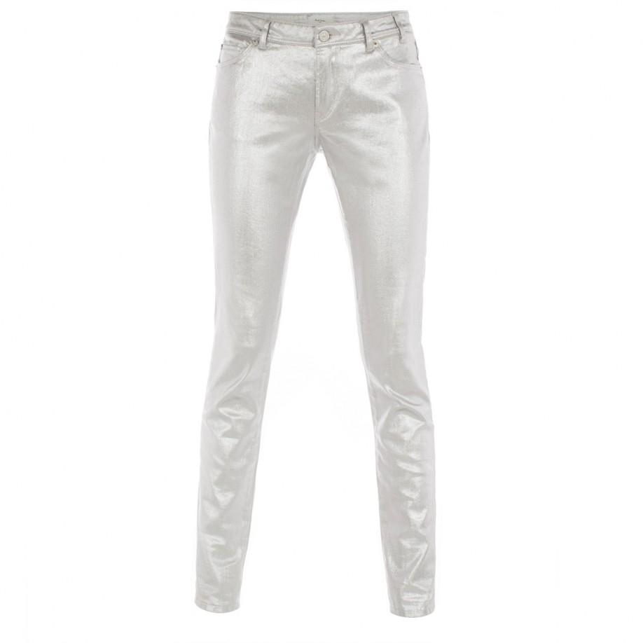 Paul smith Skinny-Fit Metallic Silver Jeans in Metallic | Lyst