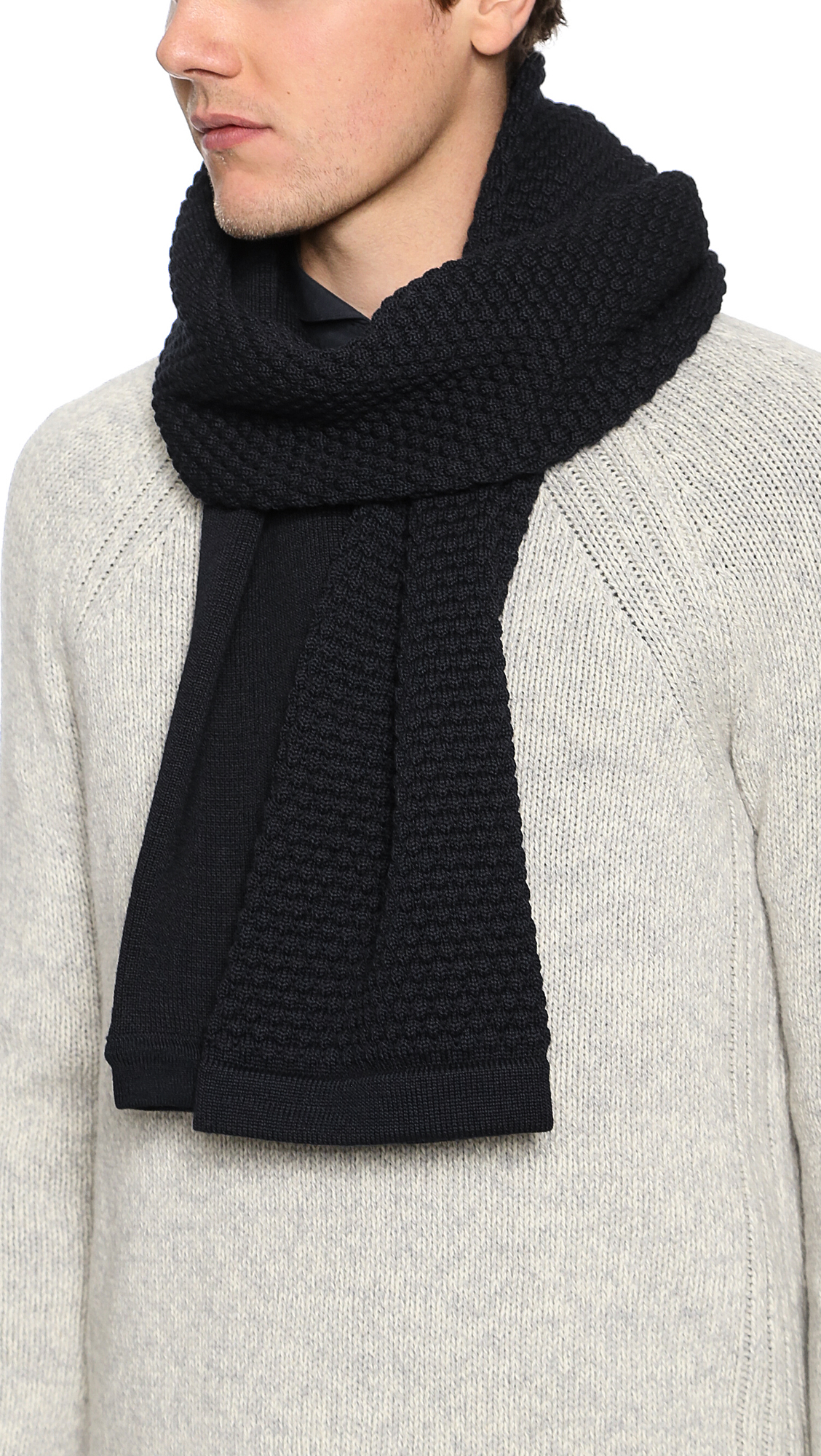 Lyst S N S Herning Torso Scarf In Black For Men