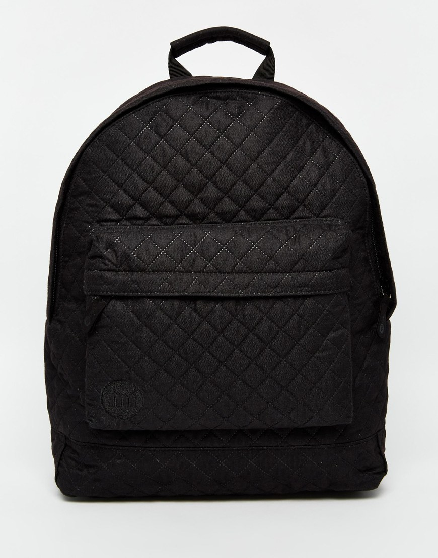 mi pac quilted backpack in black for men lyst. Black Bedroom Furniture Sets. Home Design Ideas