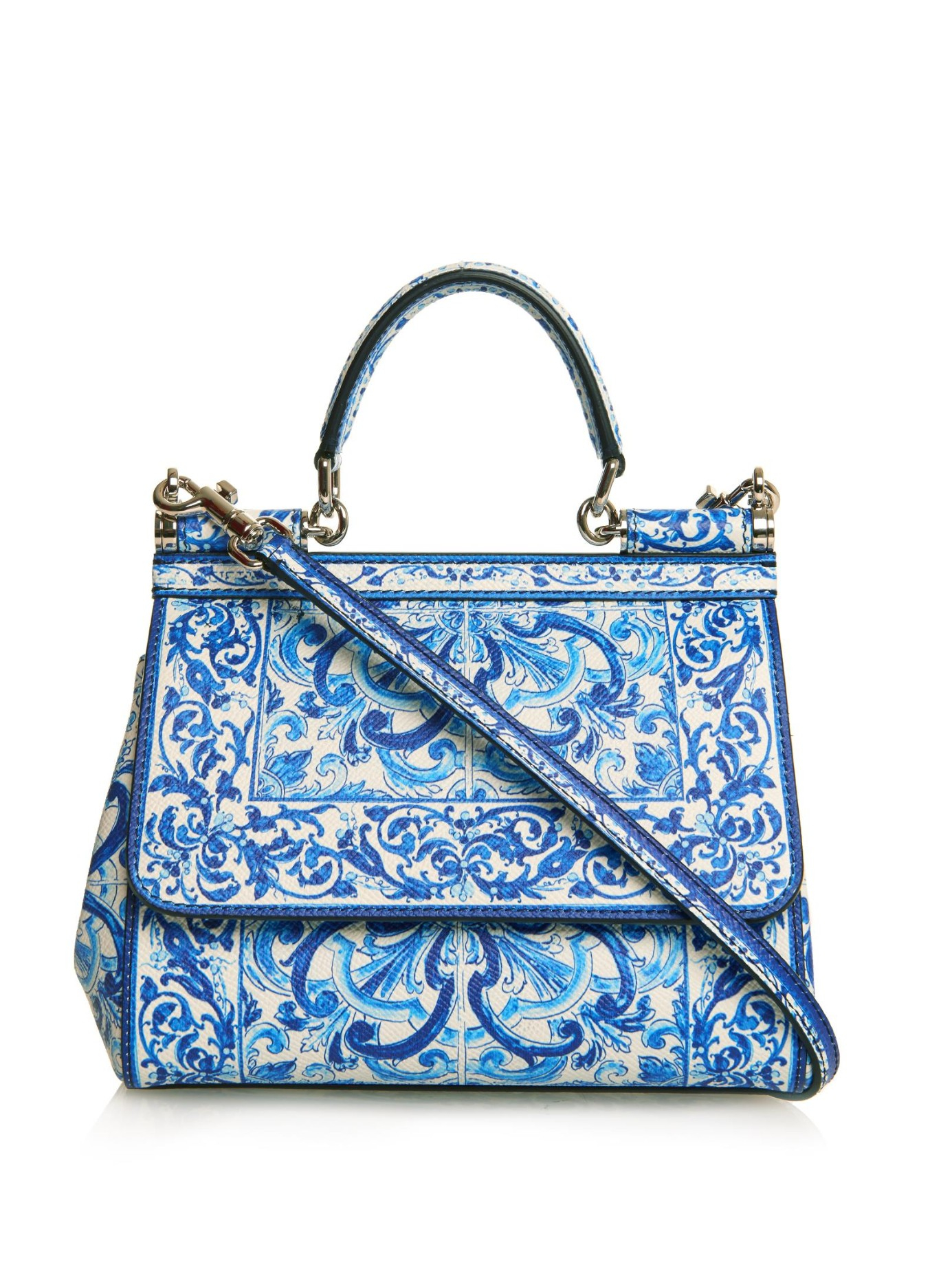 Sicily Small printed leather shoulder bag Dolce & Gabbana