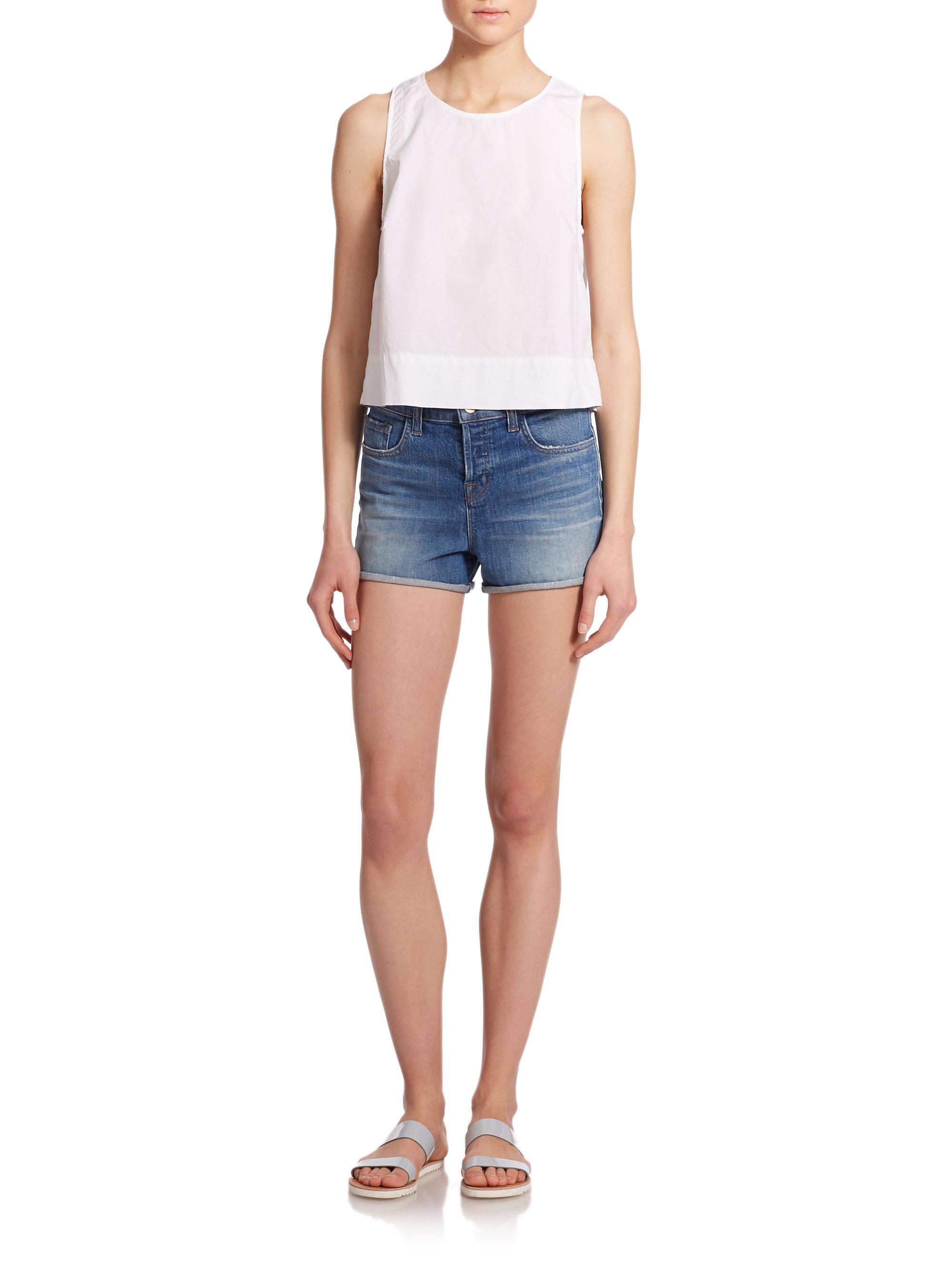 Womens Black Jean Shorts