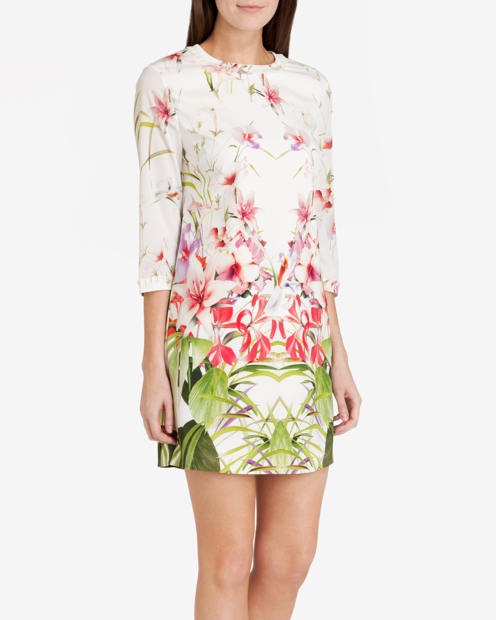 Lyst Ted Baker Mirrored Tropics Tunic Dress In White