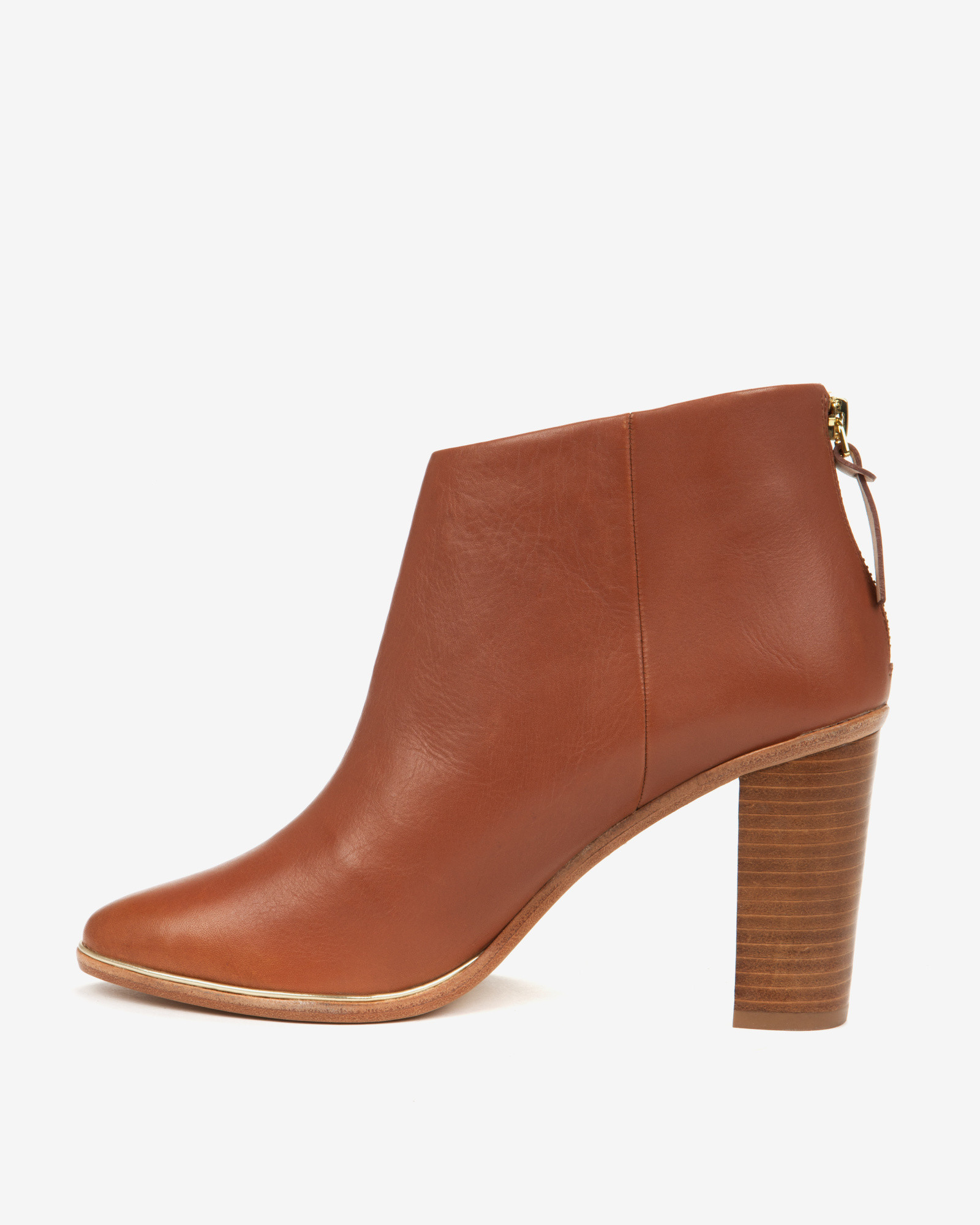 00832536ae33 Lyst - Ted Baker Leather Ankle Boots in Brown
