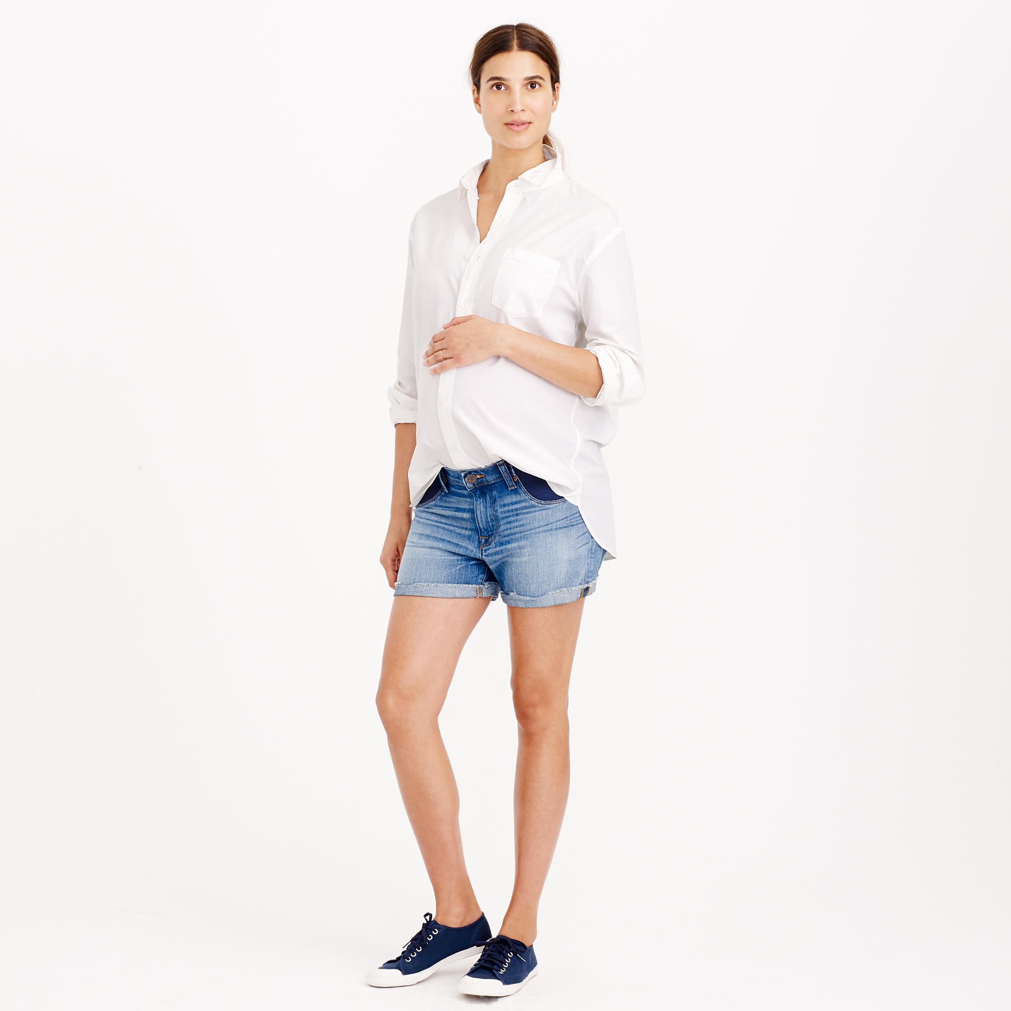J.crew Maternity Denim Short In Patina Wash in Blue | Lyst