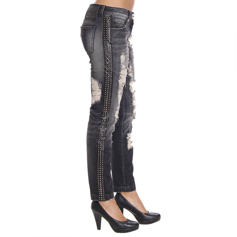 lyst philipp plein women 39 s jeans in black. Black Bedroom Furniture Sets. Home Design Ideas