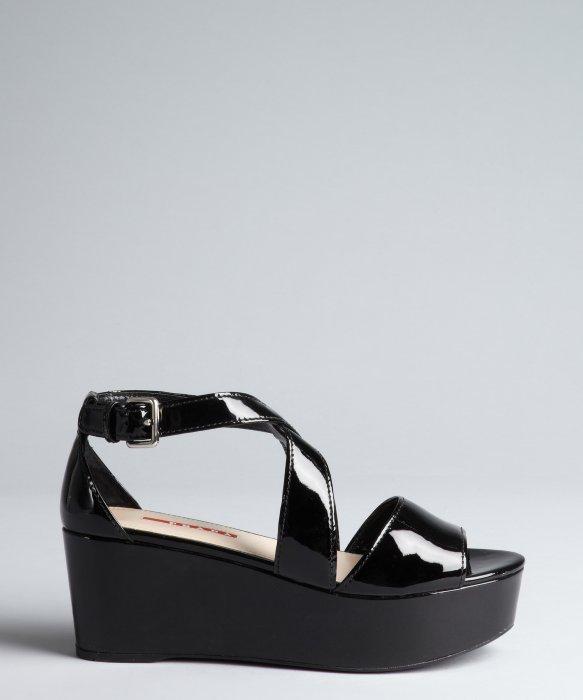 Prada Sport Patent Leather Slide Sandals buy cheap really shop cheap online bf5imjKJ