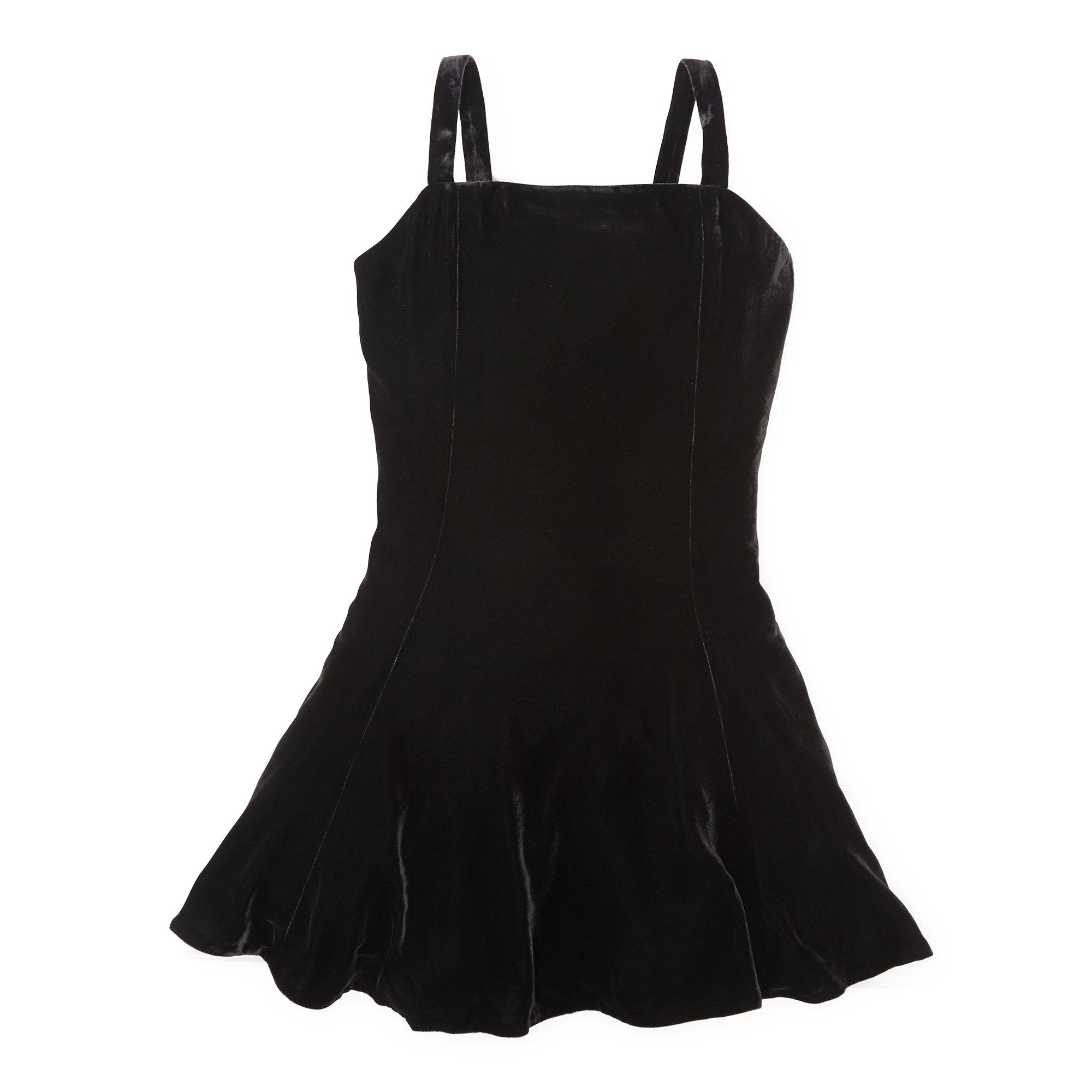 Polo ralph lauren velvet flared dress