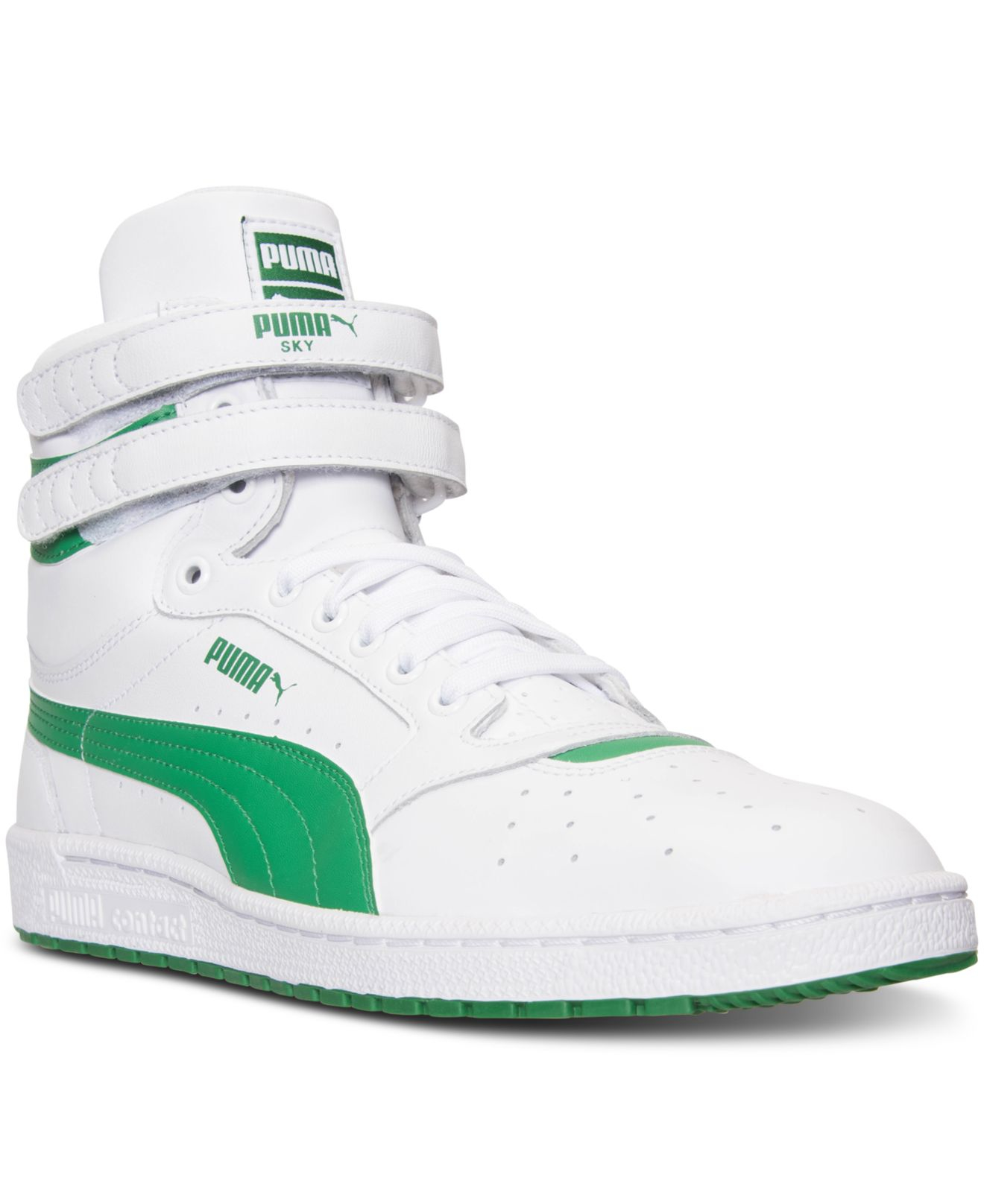 check out da3c6 f224e PUMA Men s Sky 2 Hi Fg Casual Sneakers From Finish Line in Green for ...