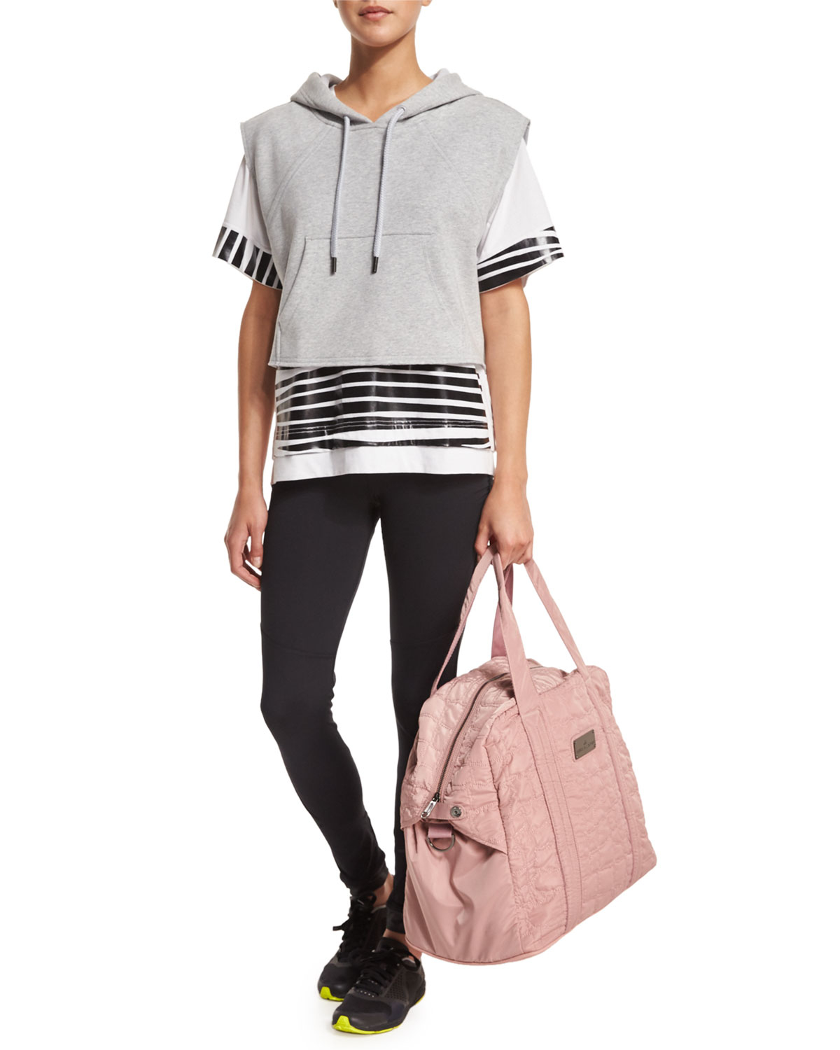 3be24aab7c Lyst - adidas By Stella McCartney Quilted Tech-fabric Essential Gym ...