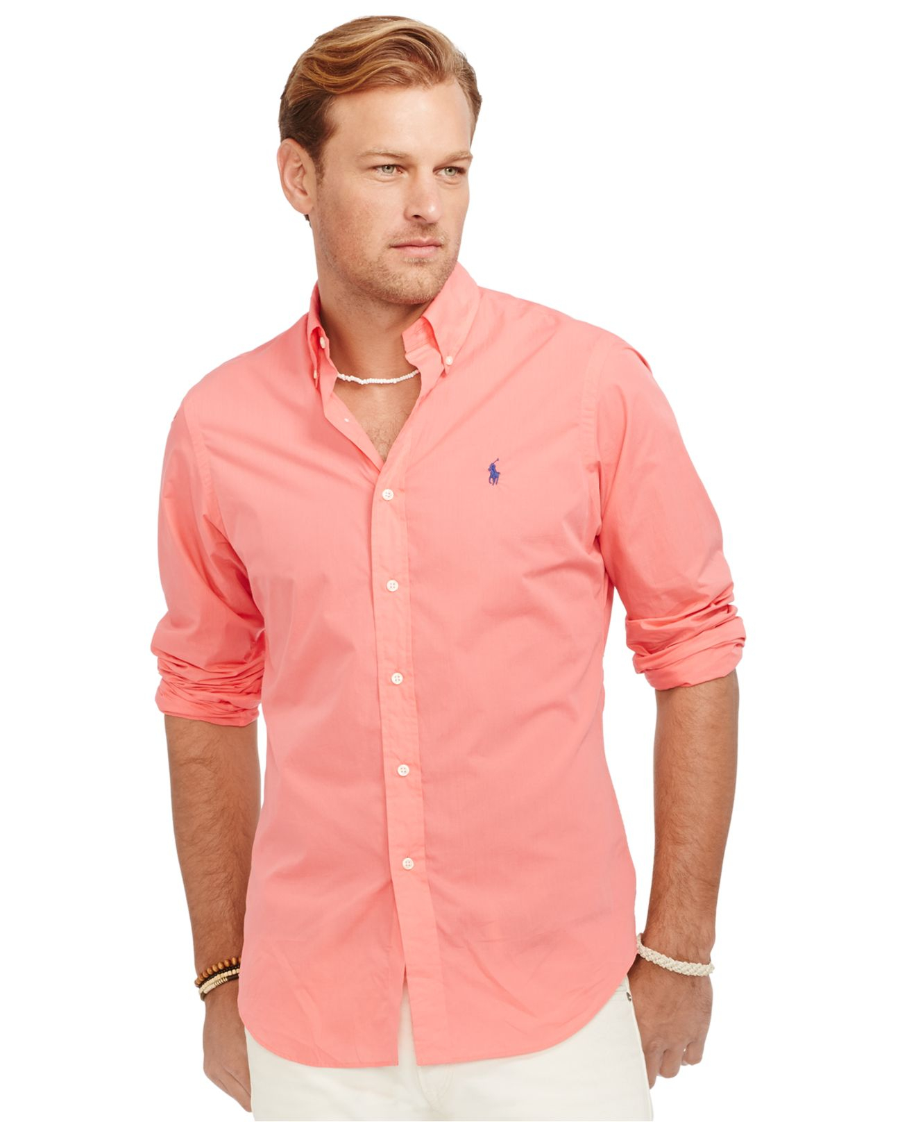 Polo ralph lauren Big And Tall Classic-fit Poplin Shirt in Red for ...