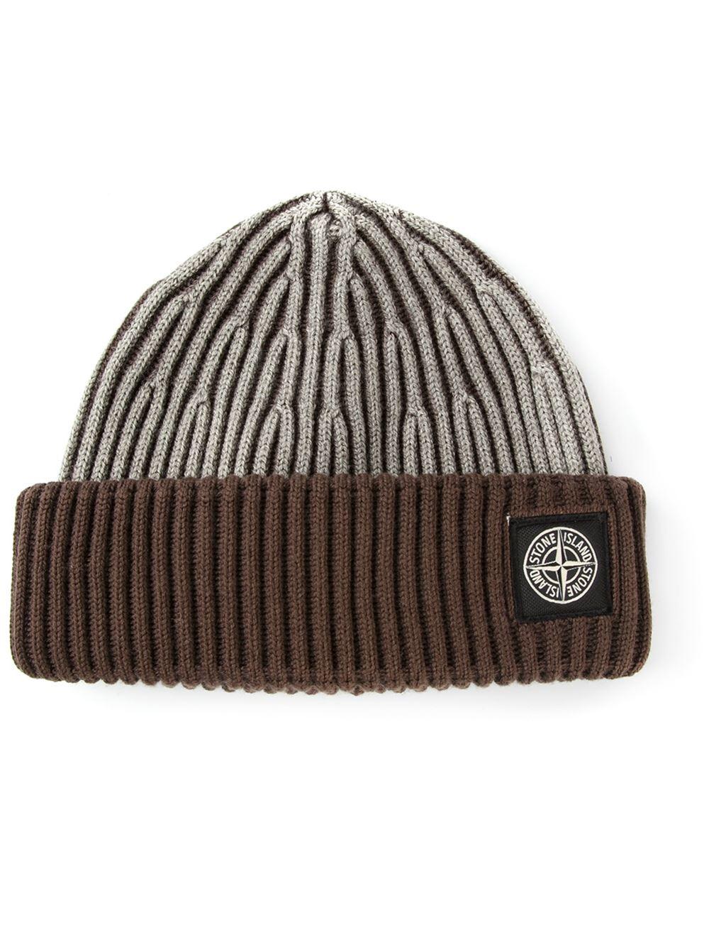 chunky knit beanie - White Stone Island f0m5ptFG