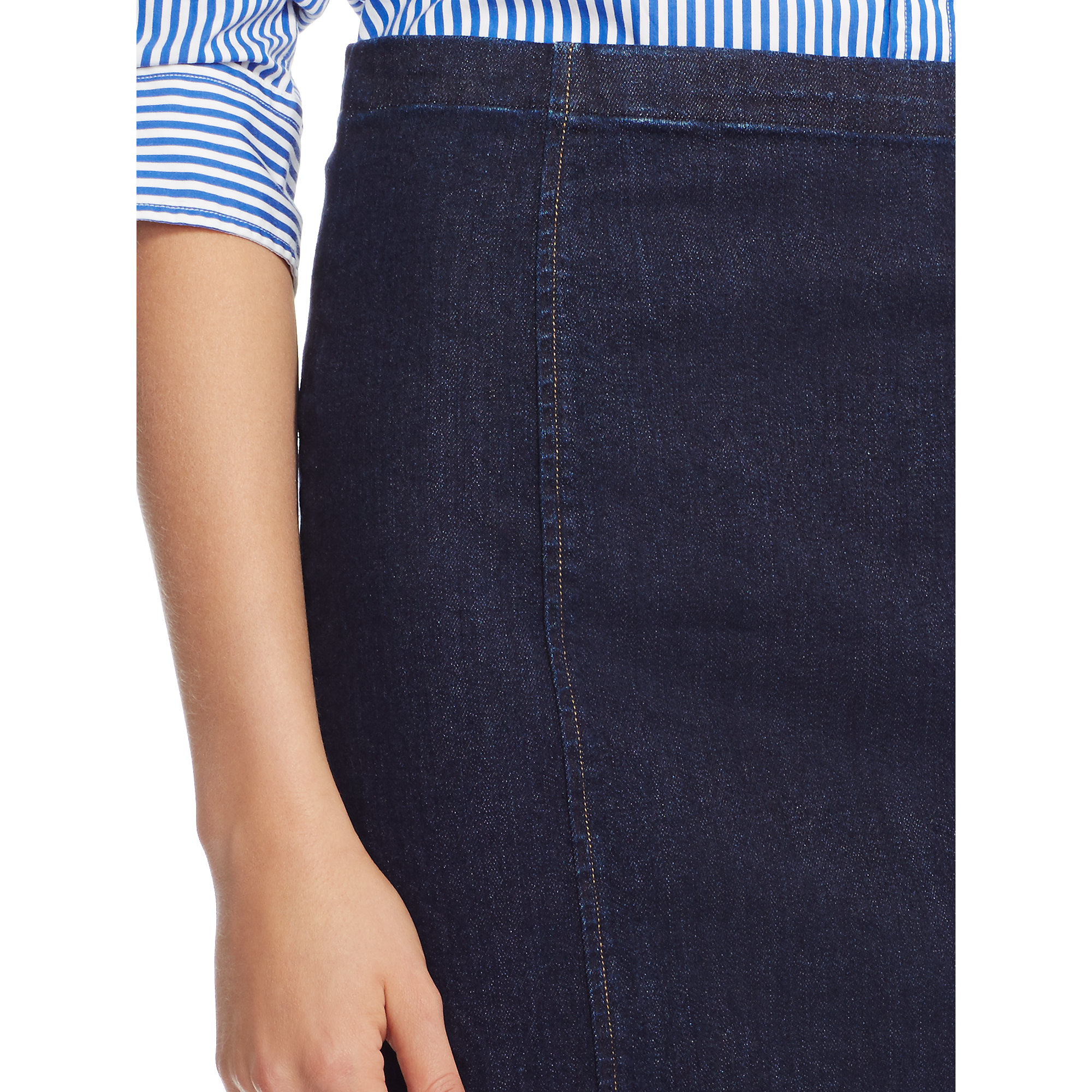 Polo ralph lauren Denim Pencil Skirt in Blue | Lyst