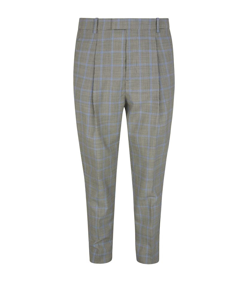 3.1 phillip lim Single Pleat Tapered Trousers in Blue for Men | Lyst
