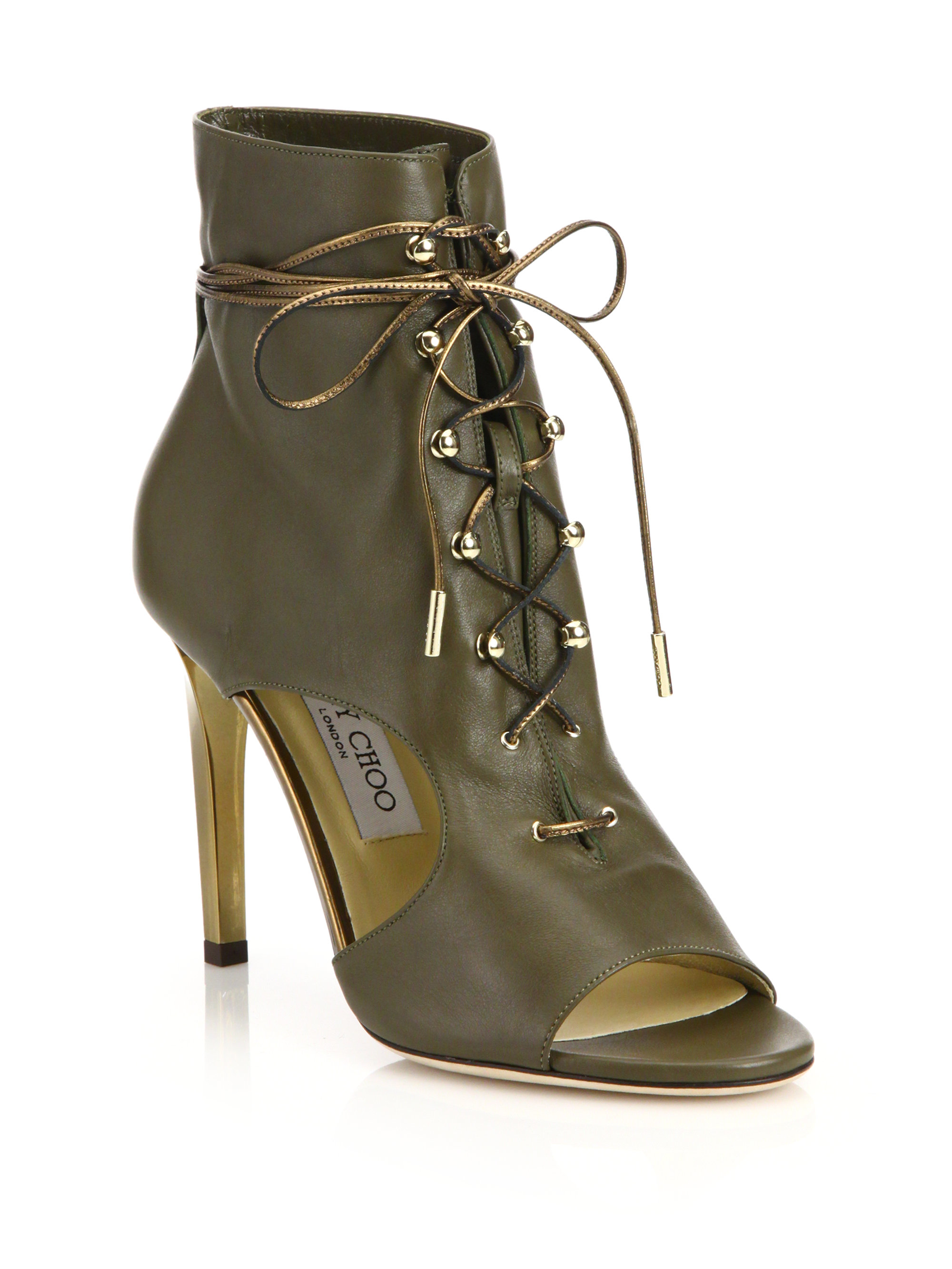Jimmy Choo Cutout Lace-Up Booties outlet order free shipping order cheap sale fashion Style fs0j2