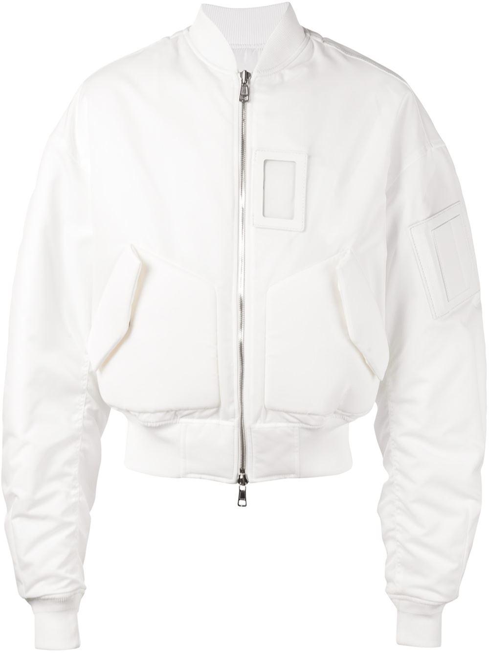 Juun J Bomber Jacket In White For Men Lyst