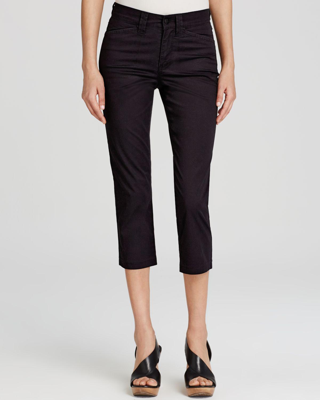 Nydj Svetlana Skinny Capri Pants in Black | Lyst