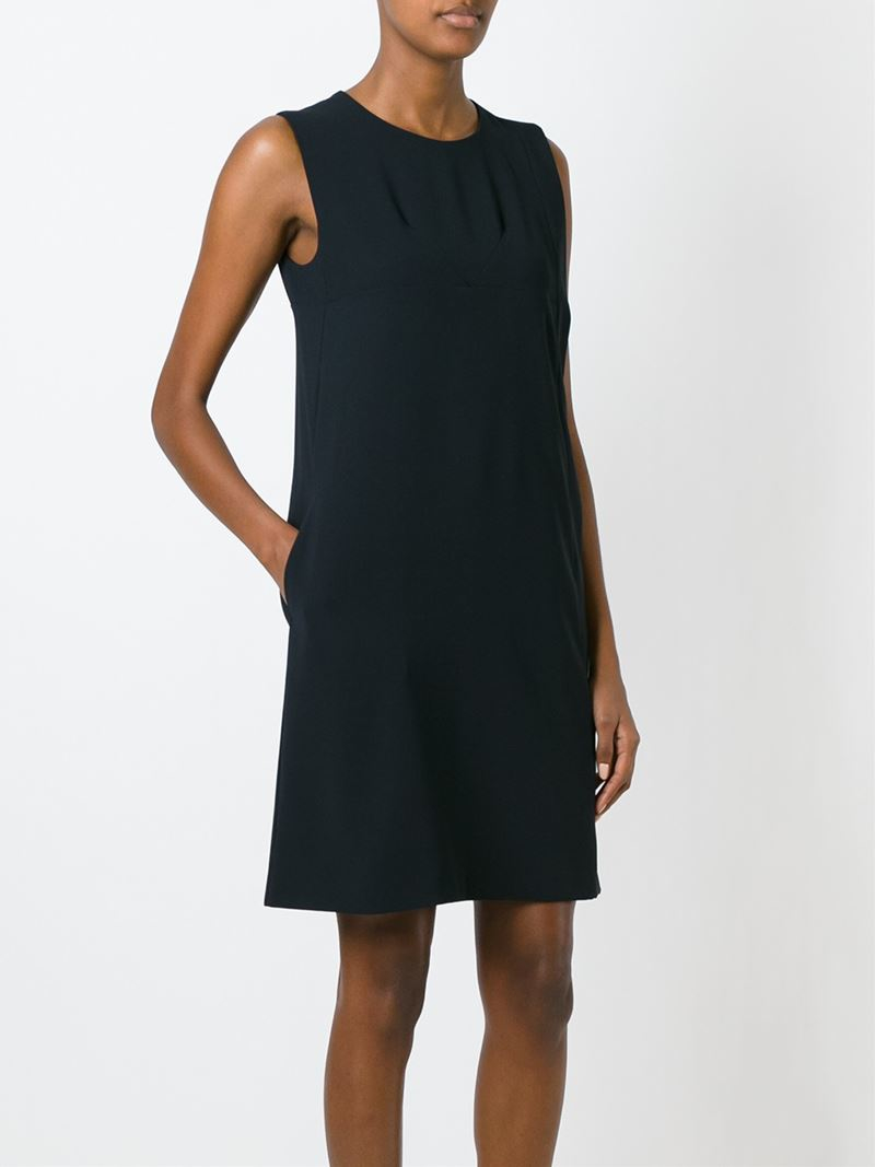 ba4df59f048 Cacharel Sleeveless Shift Dress in Black - Lyst