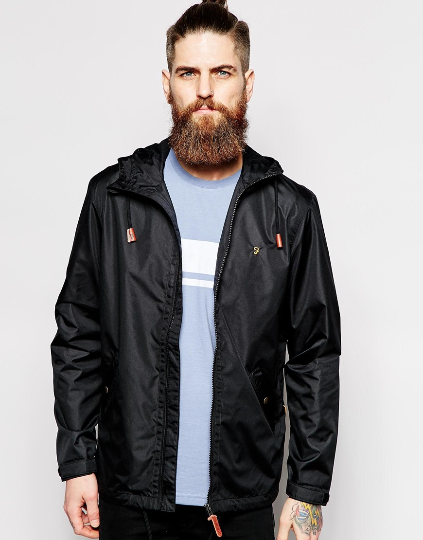 Farah Rain Jacket With Hood in Black for Men   Lyst