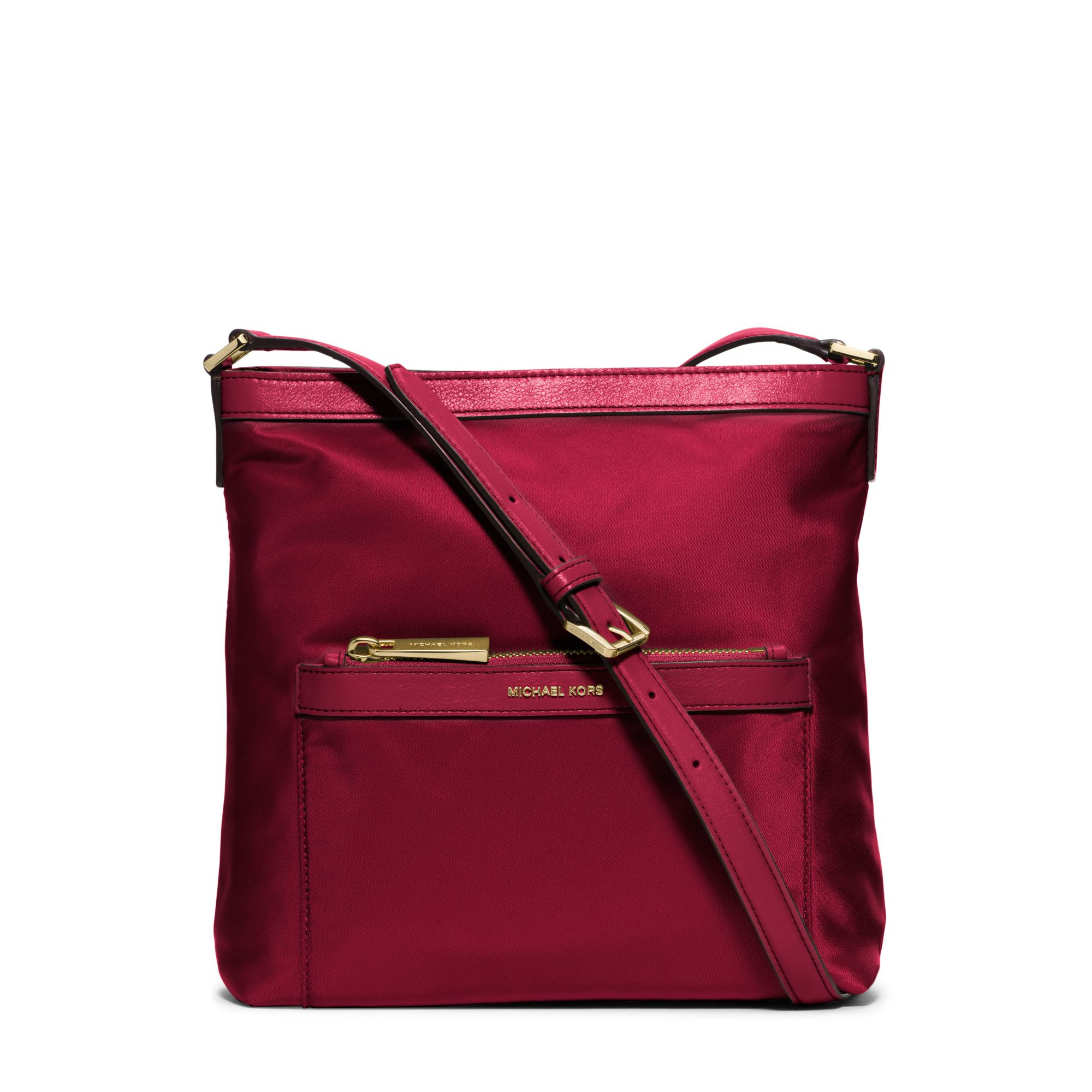 b80255a16b49 ... Bag - Cherry i Michael kors Morgan Medium Nylon Crossbody in Red Lyst