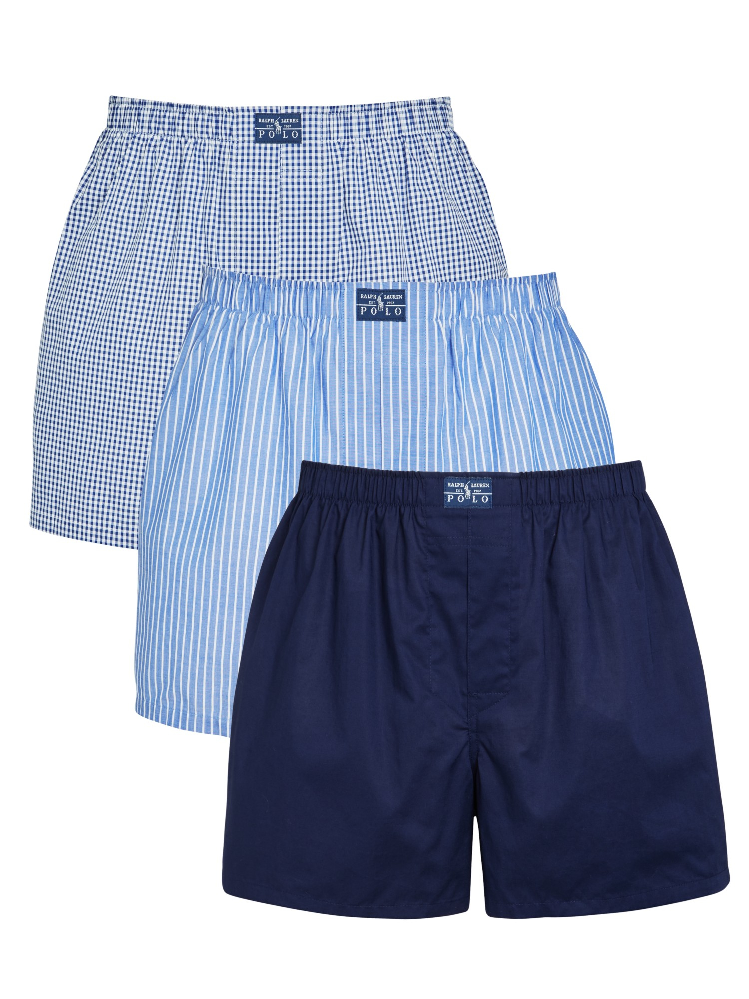 pink pony polo woven boxer shorts in blue for men lyst. Black Bedroom Furniture Sets. Home Design Ideas