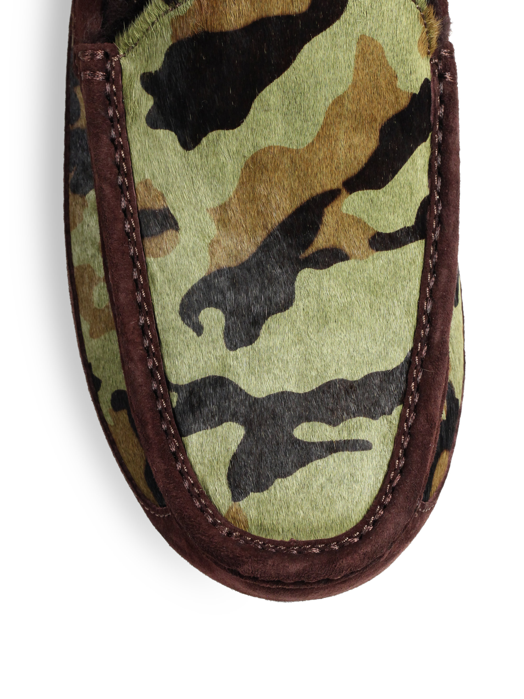 7af4dfc82df97 UGG Ascot Camo Slippers in Brown for Men - Lyst