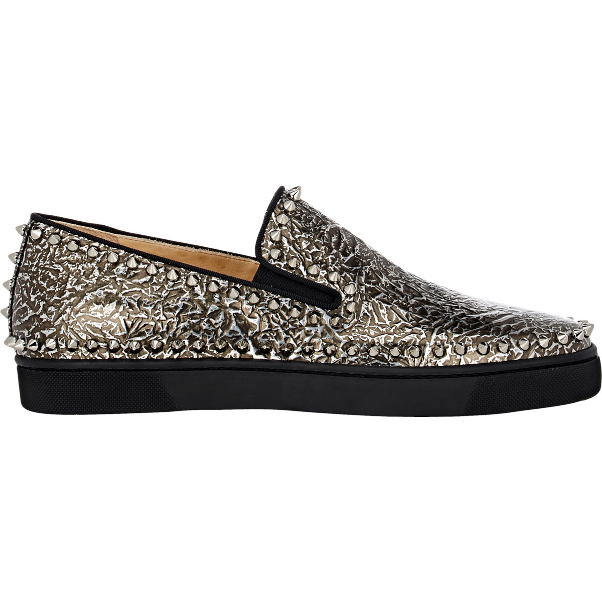 mens red bottom shoes price - christian louboutin leather round-toe slip-on Pik Boat sneakers ...