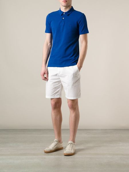 White Chino Mens Brit Chino Shorts in White