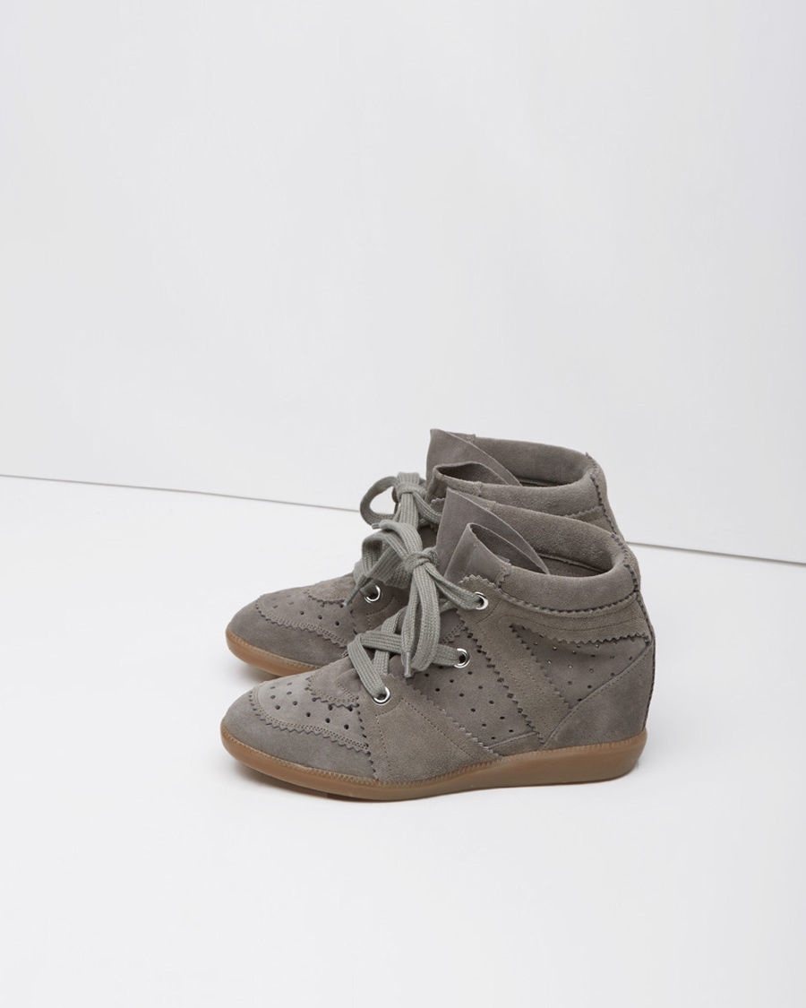 toile isabel marant bobby low top sneaker in gray lyst. Black Bedroom Furniture Sets. Home Design Ideas