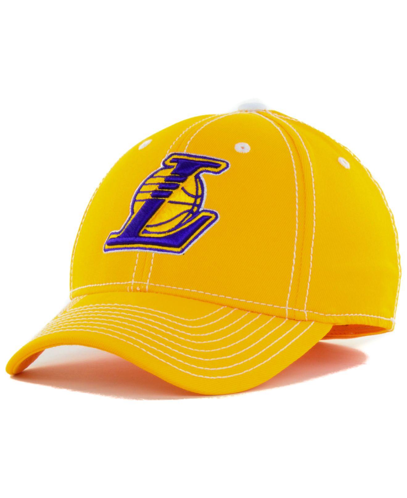 Lyst - adidas Los Angeles Lakers Nba Primary Team Flex Cap in Yellow ... 147bd0db987